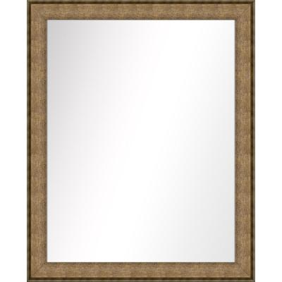Medium Rectangle Dark Champagne Art Deco Mirror (31.5 in. H x 25.5 in. W)