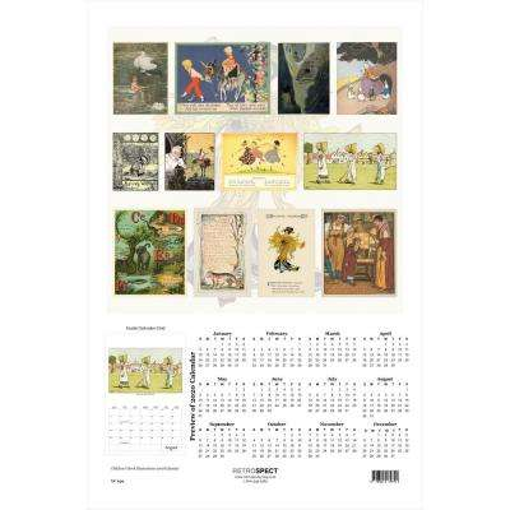 19 in. x 12.5 in. Children's Book Illustrations Calendar - 2019 Calendar