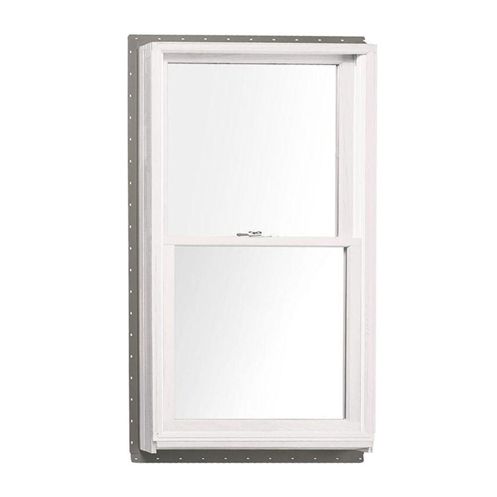 Andersen 37.625 in. x 56.875 in. 400 Series Tilt-Wash Double Hung Wood Window with White Exterior