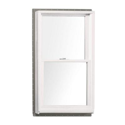 33.625 in. x 52.875 in. 400 Series Double Hung White Interior Wood Windows