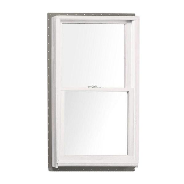 33.625 in. x 56.875 in. 400 Series Double Hung White Interior Wood Windows