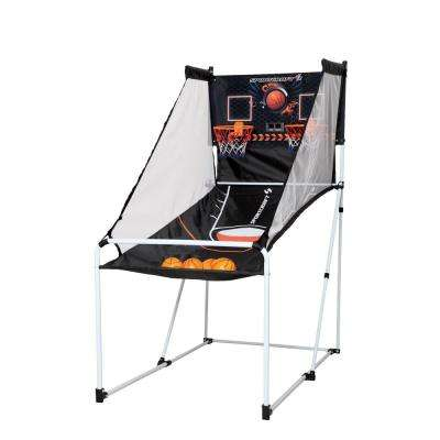 Sport Craft Junior Portable Easy Fold-Up Basketball Arcade Game with Carry Bag