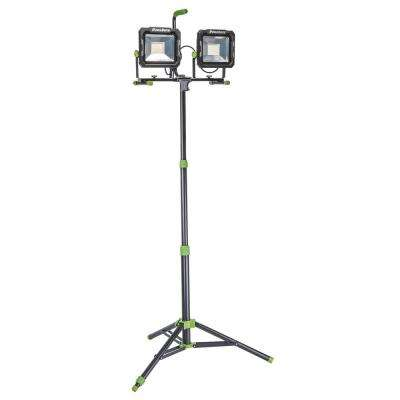 15,000 Lumens Dual-Head LED Work Light with Metal Tripod