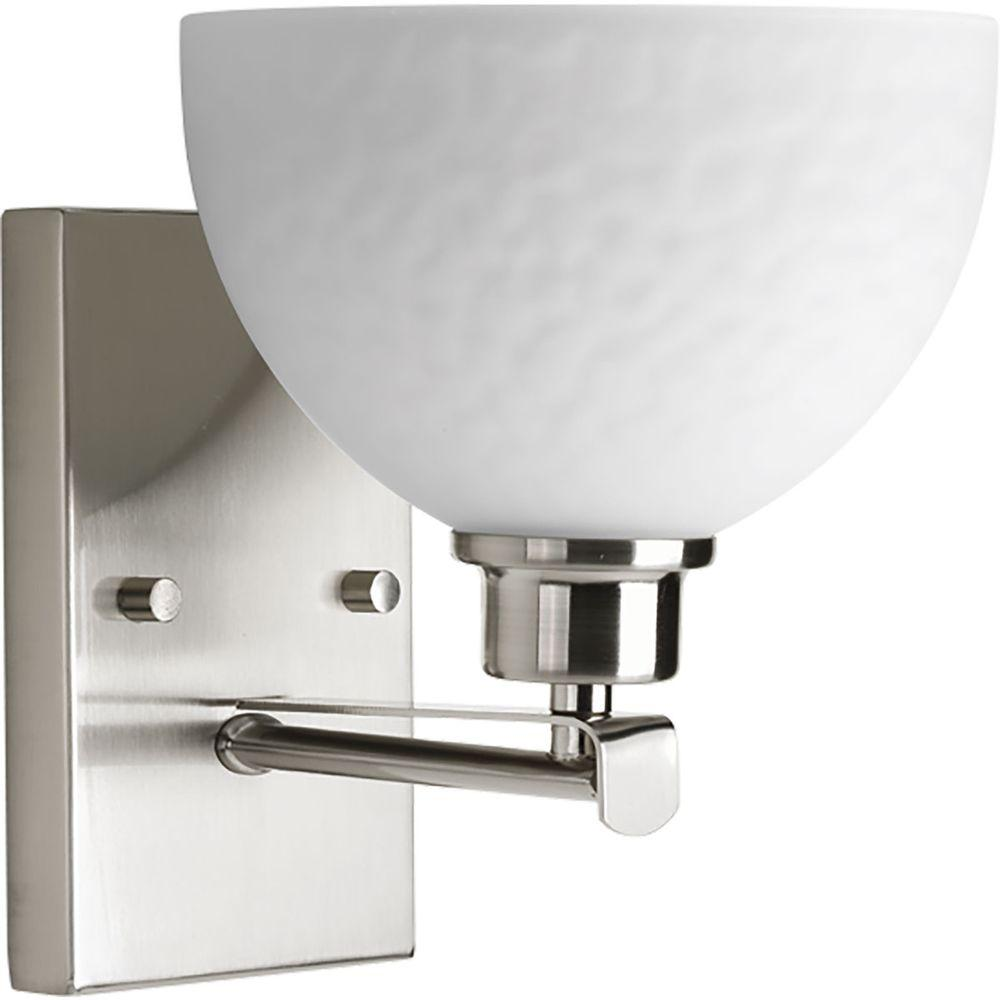 Legend Collection 1-Light Brushed Nickel Bath Light