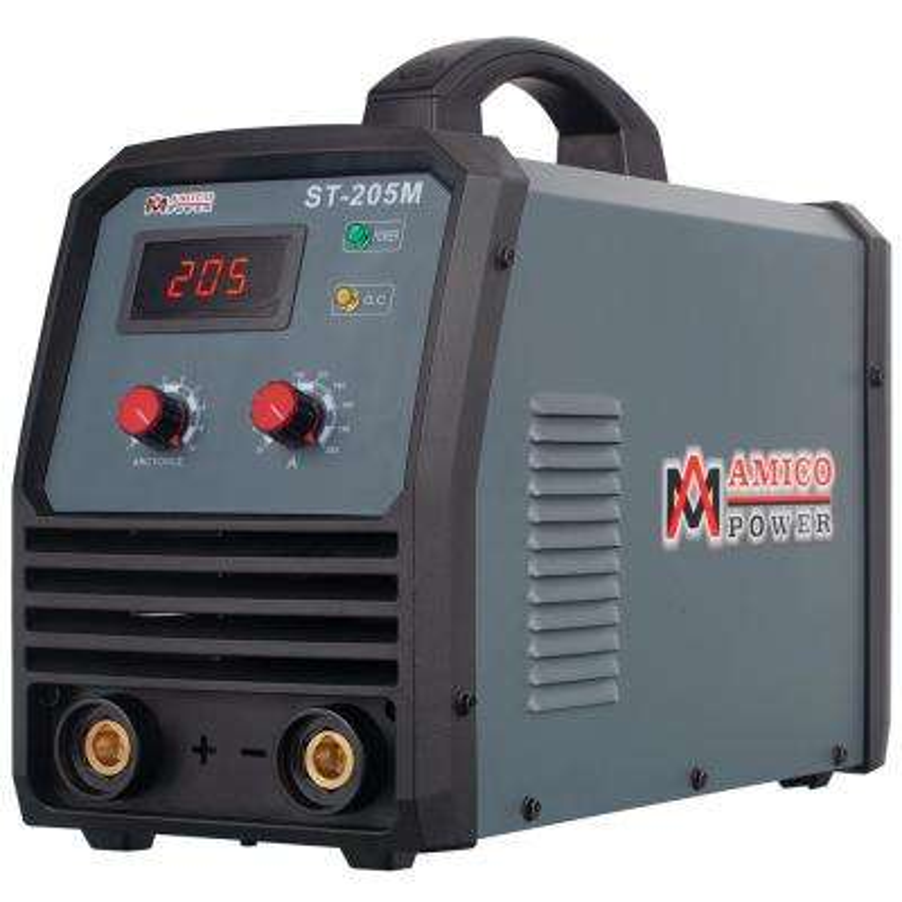 205 Amp Stick Arc DC Inverter Welder, 95-Volt to 260-Volt Wide Voltage, Power Cords Can Extend to 700 ft.
