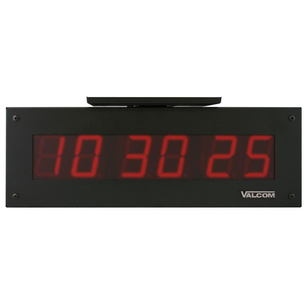 Valcom IP PoE 4.0 in. (6) Digit Digital Clocks (Double Sided)
