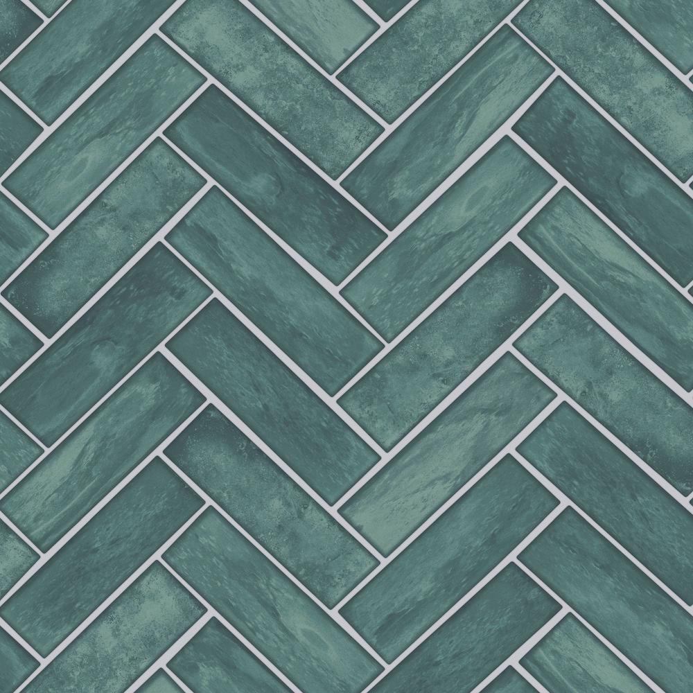 Lustro Teal Removable Wallpaper Sample