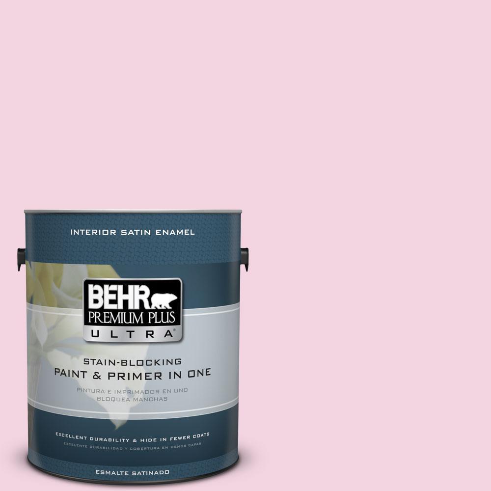BEHR Premium Plus Ultra 1-gal. #100A-3 Scented Valentine Satin Enamel Interior Paint