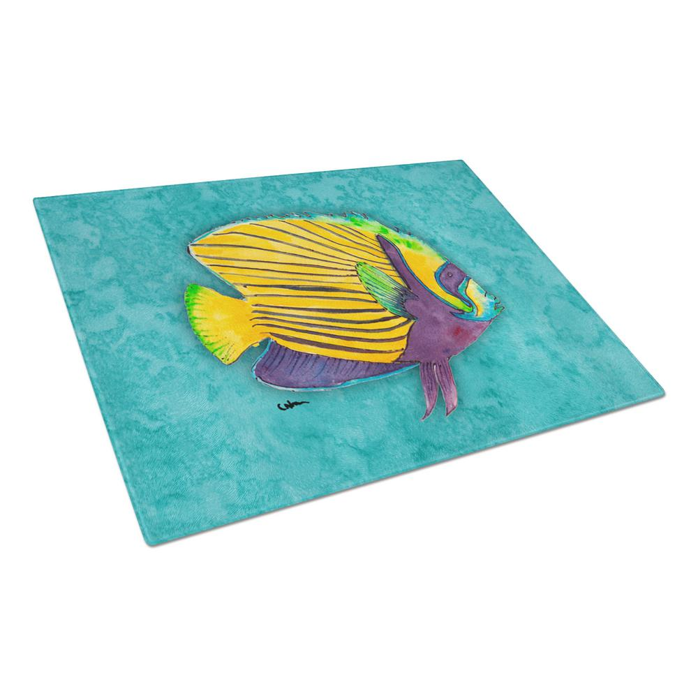 Fish Tropical Tempered Glass Large Cutting Board