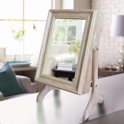 Charlotte Jewelry Armoire with Mirror in Weathered Finish