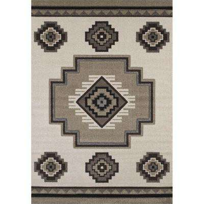 Mountain Cream 5 ft. 3 in. x 7 ft. 6 in. Area Rug