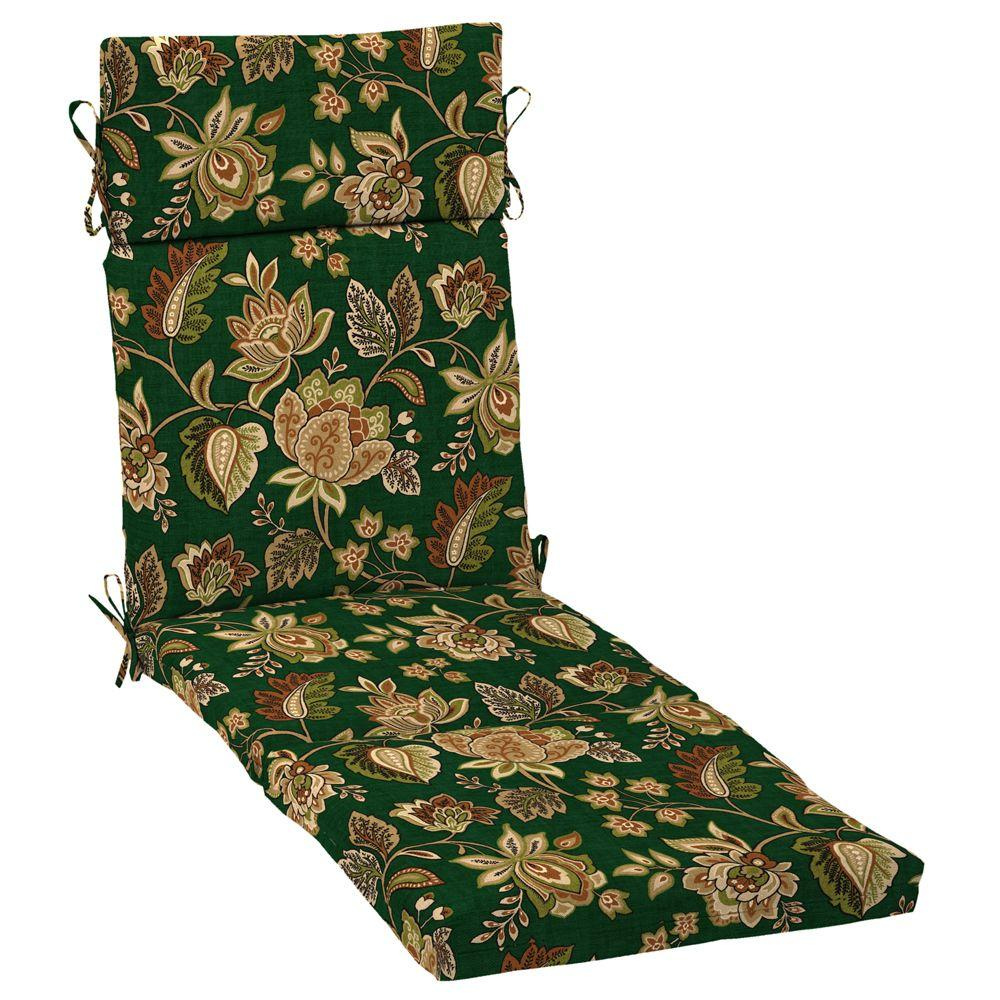 Arden Hunter Green Floral Chaise Cushion-DISCONTINUED