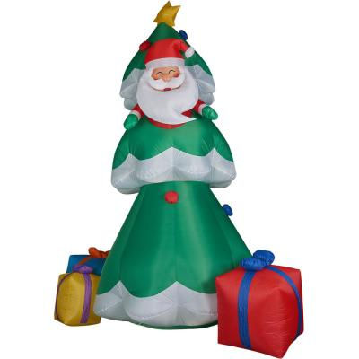 20 ft. Christmas Tree with Santa and Gifts Inflatable with Lights