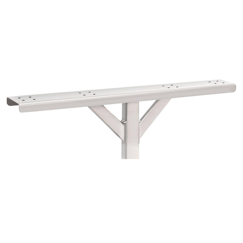 Salsbury Industries 4-Wide Spreader with 2 Supporting Arms for Roadside Mailboxes, White