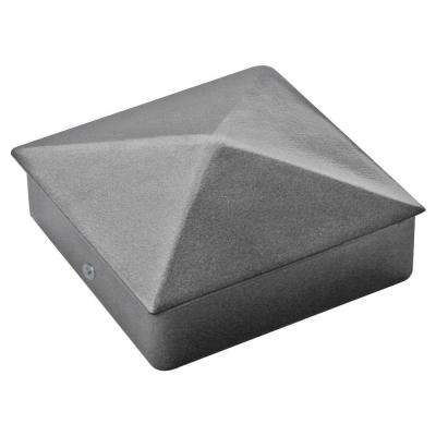 4 in. x 4 in. Powder Coated Aluminum Pyramid Post Cap