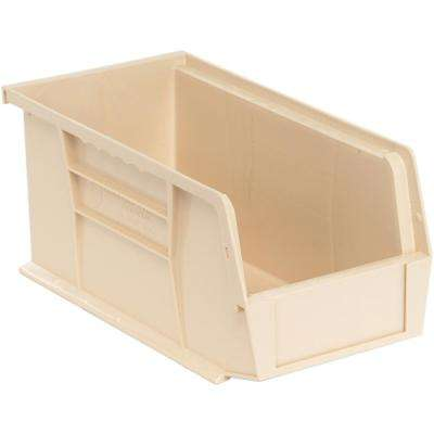 Ultra Series Stack and Hang 3.5 Gal. Storage Bin in Ivory (12-Pack)