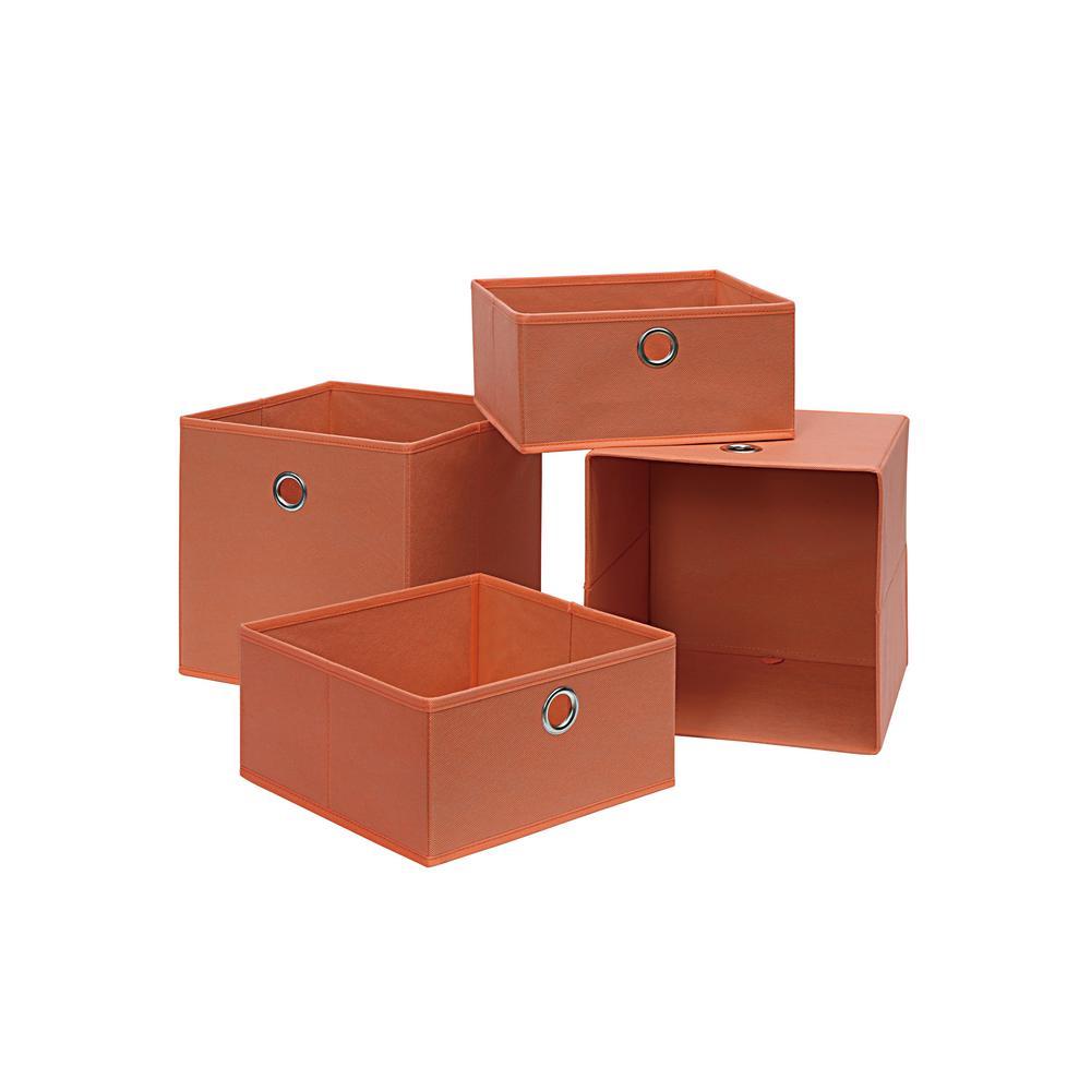 10.5 in. x 10.5 in. Salmon 4-Cube Organizer