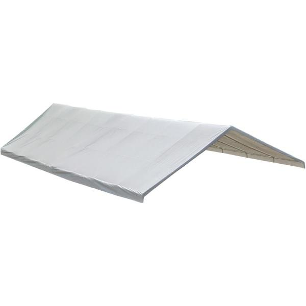 30 ft. W x 50 ft. D Ultra Max Fixed-Leg Canopy with White Waterproof, Fire-Rated Replacement Cover for 2-3/8 in. Frame