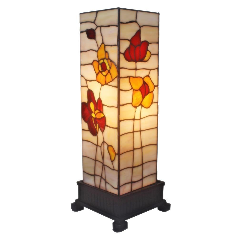 Amora Lighting 18 In. Tiffany Style Poppies Table Lamp AM095TL06   The Home  Depot