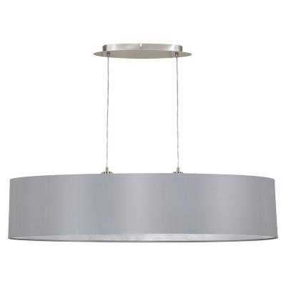 Maserlo 2-Light Silver and Satin Nickel Pendant Light
