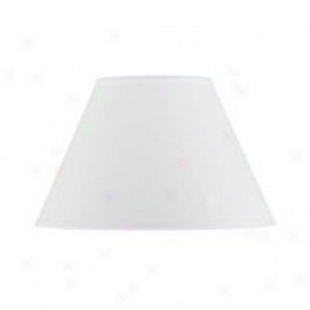 CAL Lighting 16 in. White Bell Hardback Fabric Shade-DISCONTINUED