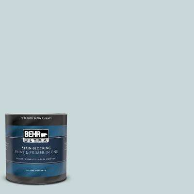 1 qt. #PPU13-16 Offshore Mist Satin Enamel Exterior Paint and Primer in One