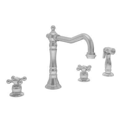 Carrington 2-Handle Standard Kitchen Faucet in Stainless Steel