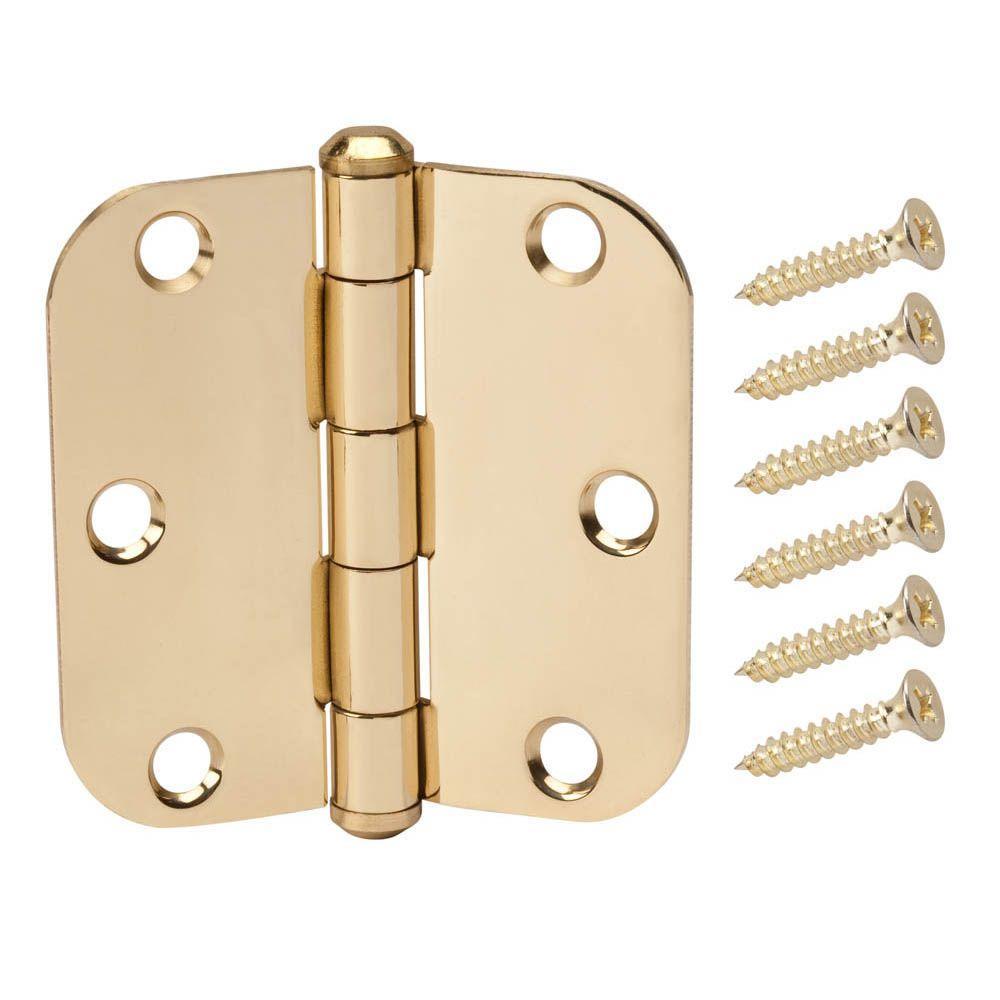 3 in. Solid Brass 5/8 in. Radius Door Hinge