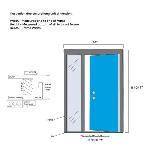 Mmi Door 51 In X 81 75 In Davina Clear Low E Glass Right Hand 3 Lite Modern Painted Steel Prehung Front Door With Sidelite Z0354856r The Home Depot