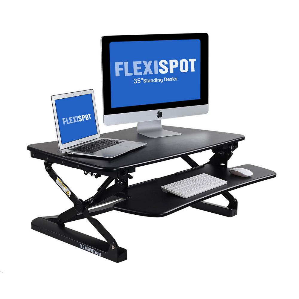 35 in. W Platform Height Adjustable Standing Desk Riser Removable Keyboard
