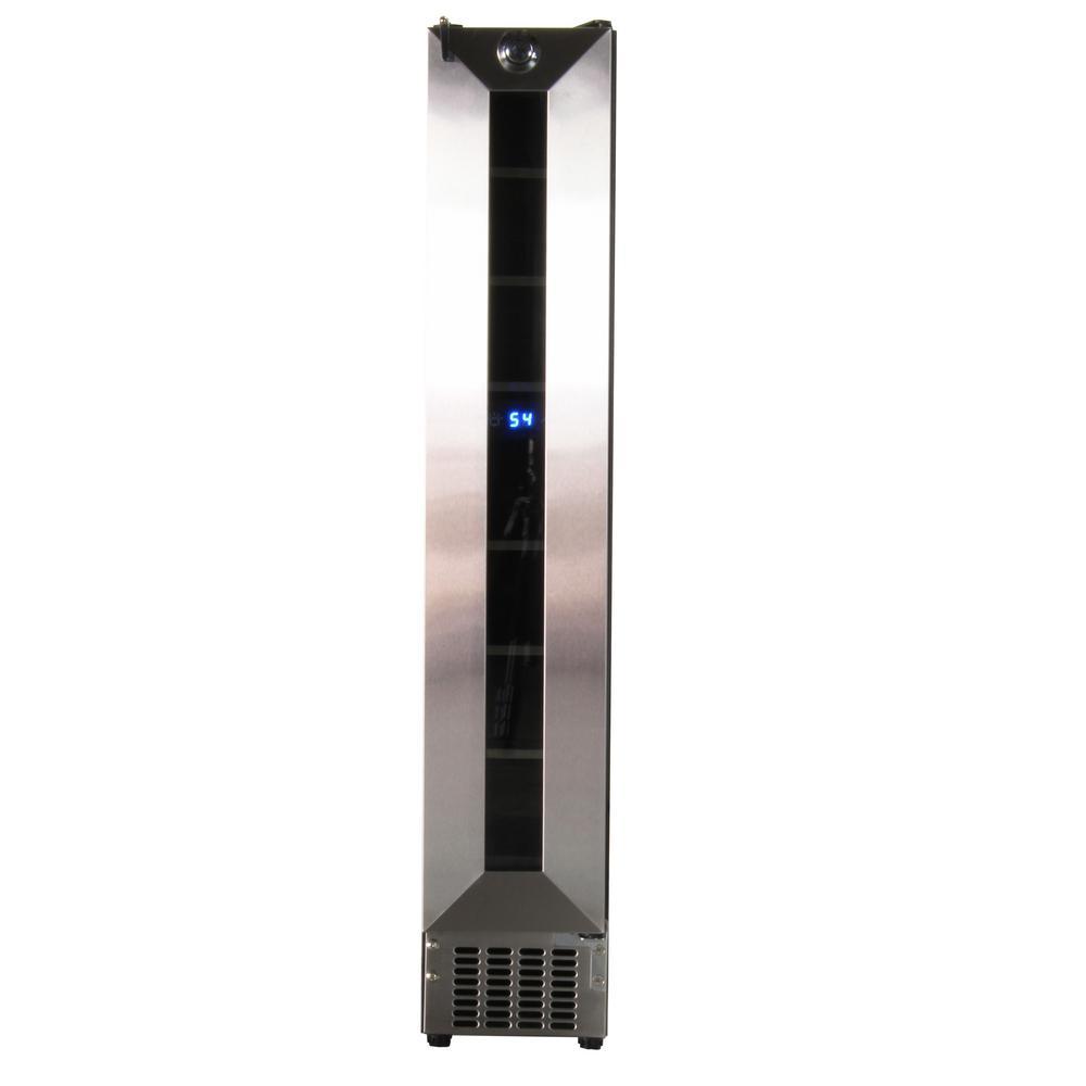 Deco 7-Bottle Slim Wine Refrigerator in Stainless Steel