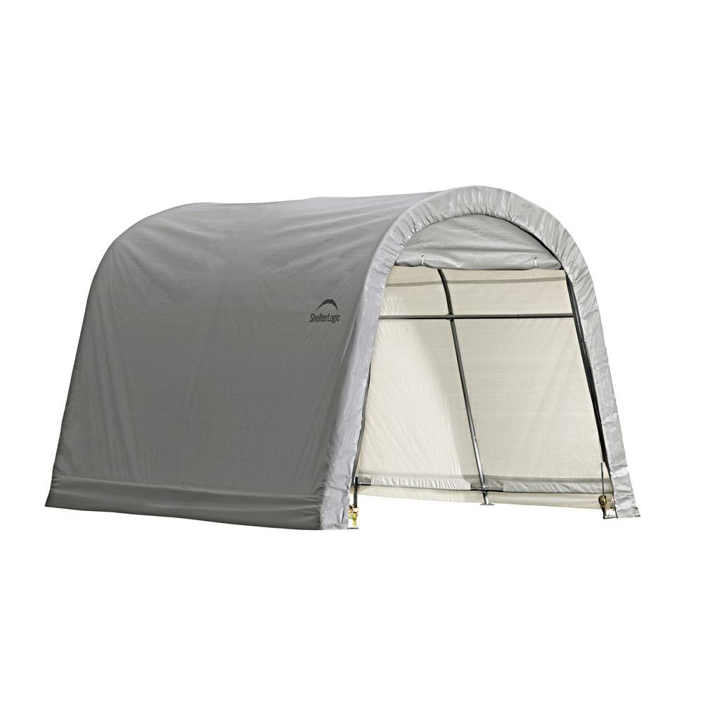 Shelterlogic 10 Ft X 10 Ft X 8 Ft Grey Steel And