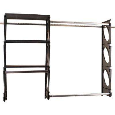 Superior Urban Intermediate 4 Ft. To 5 Ft. Black Closet Shelving Kit