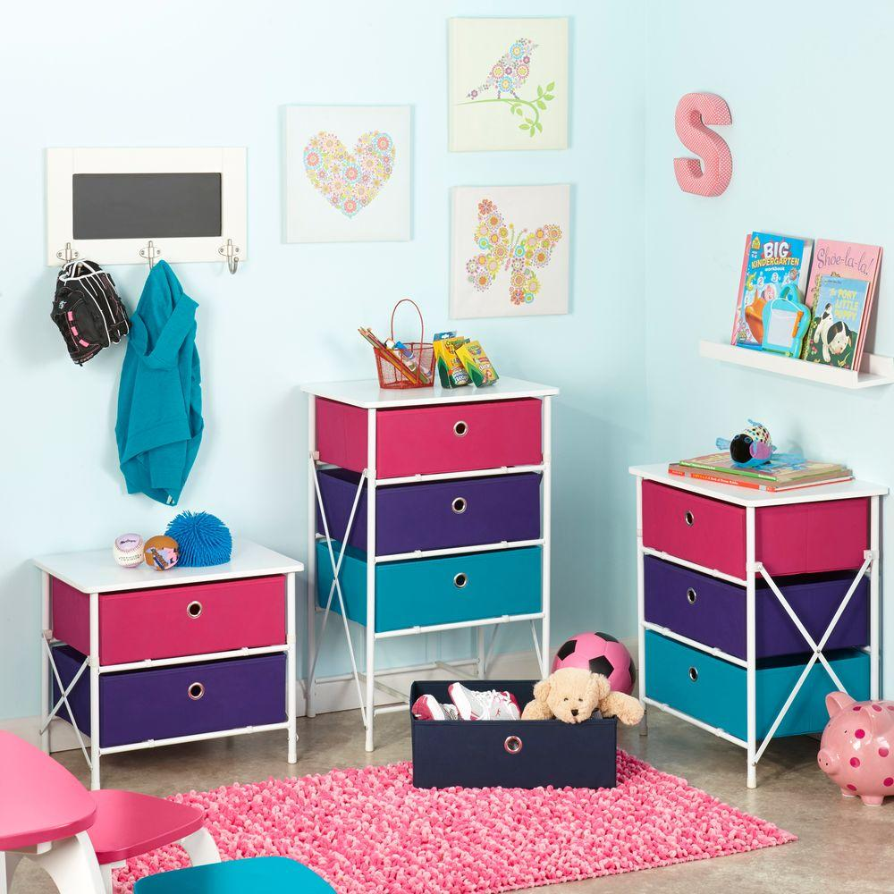 Sort and Store Kids 2-Drawer White Chest