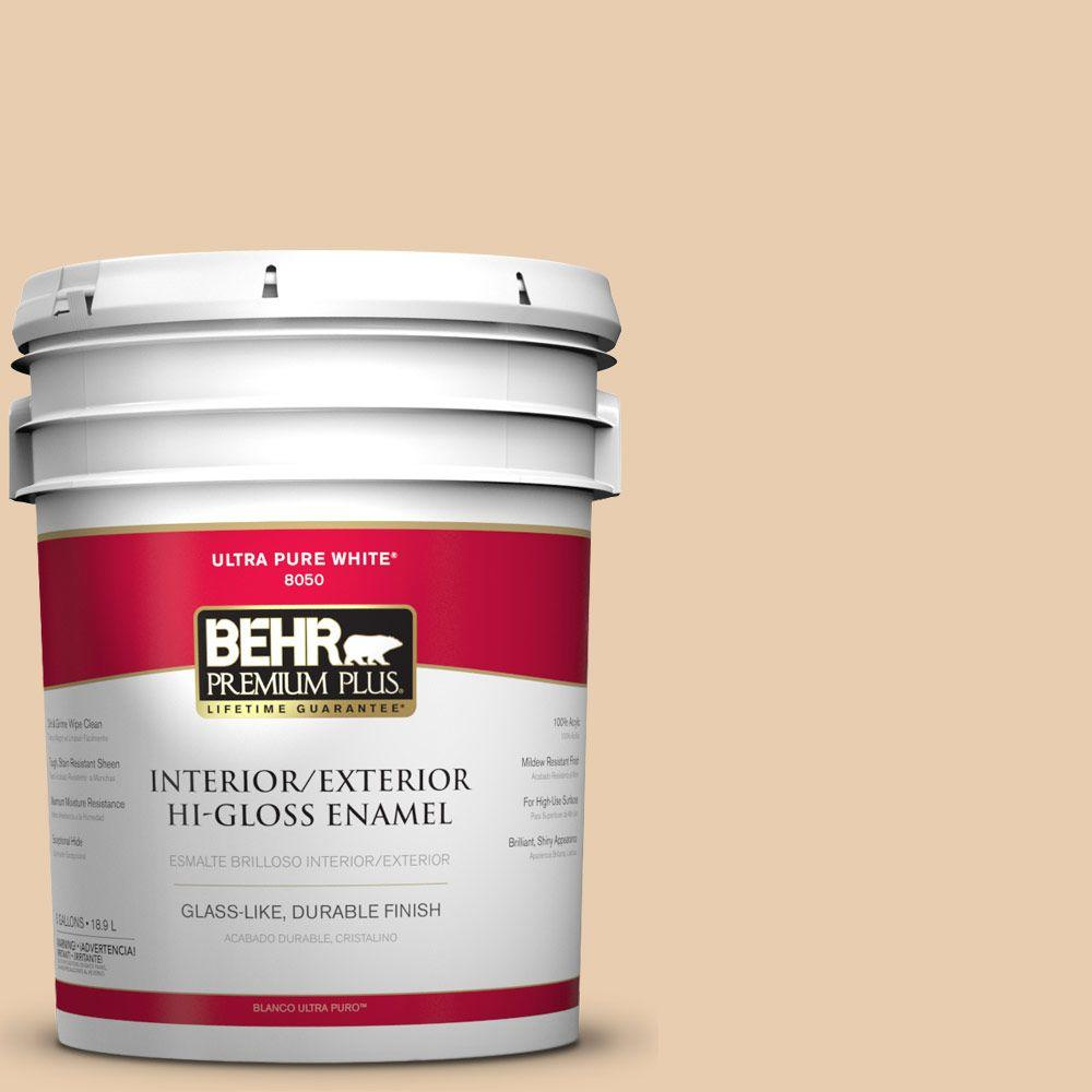 5-gal. #BXC-64 Shortbread Cookie Hi-Gloss Enamel Interior/Exterior Paint
