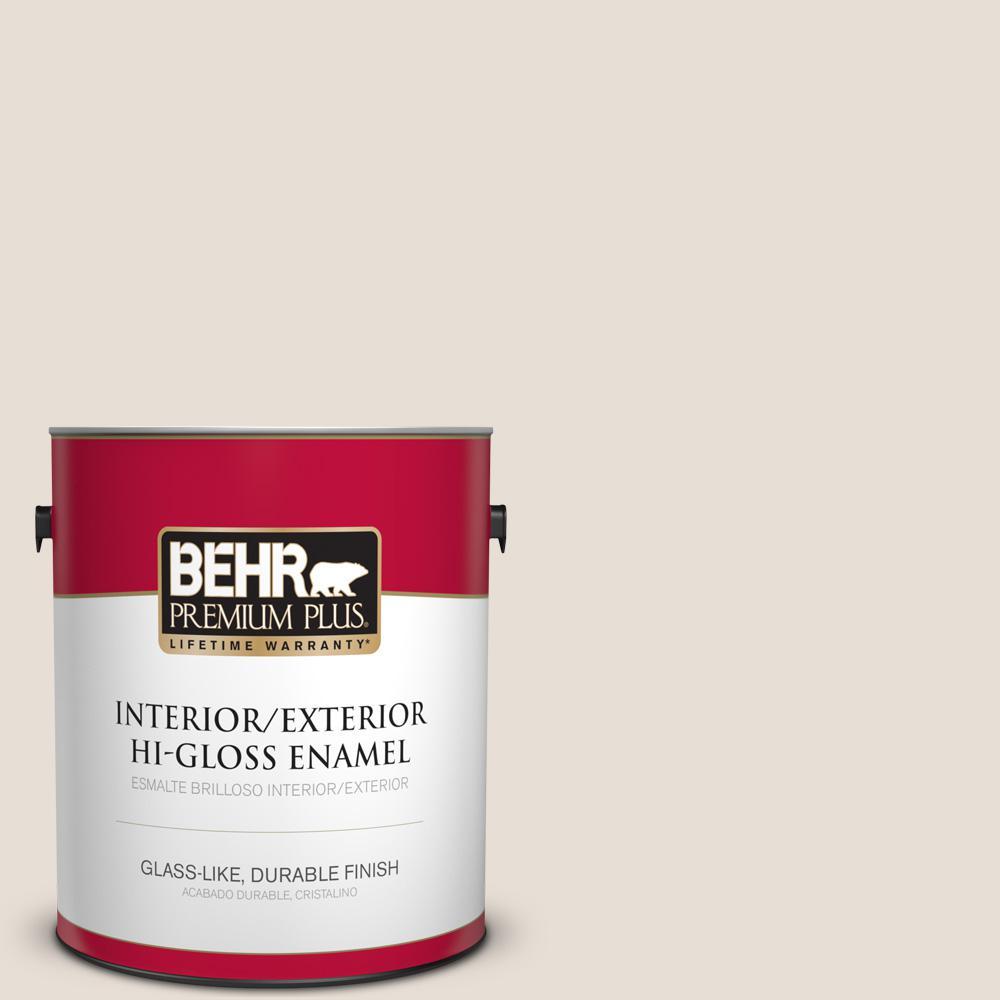 1 gal. #PPU2-04 Pale Cashmere Hi-Gloss Enamel Interior/Exterior Paint