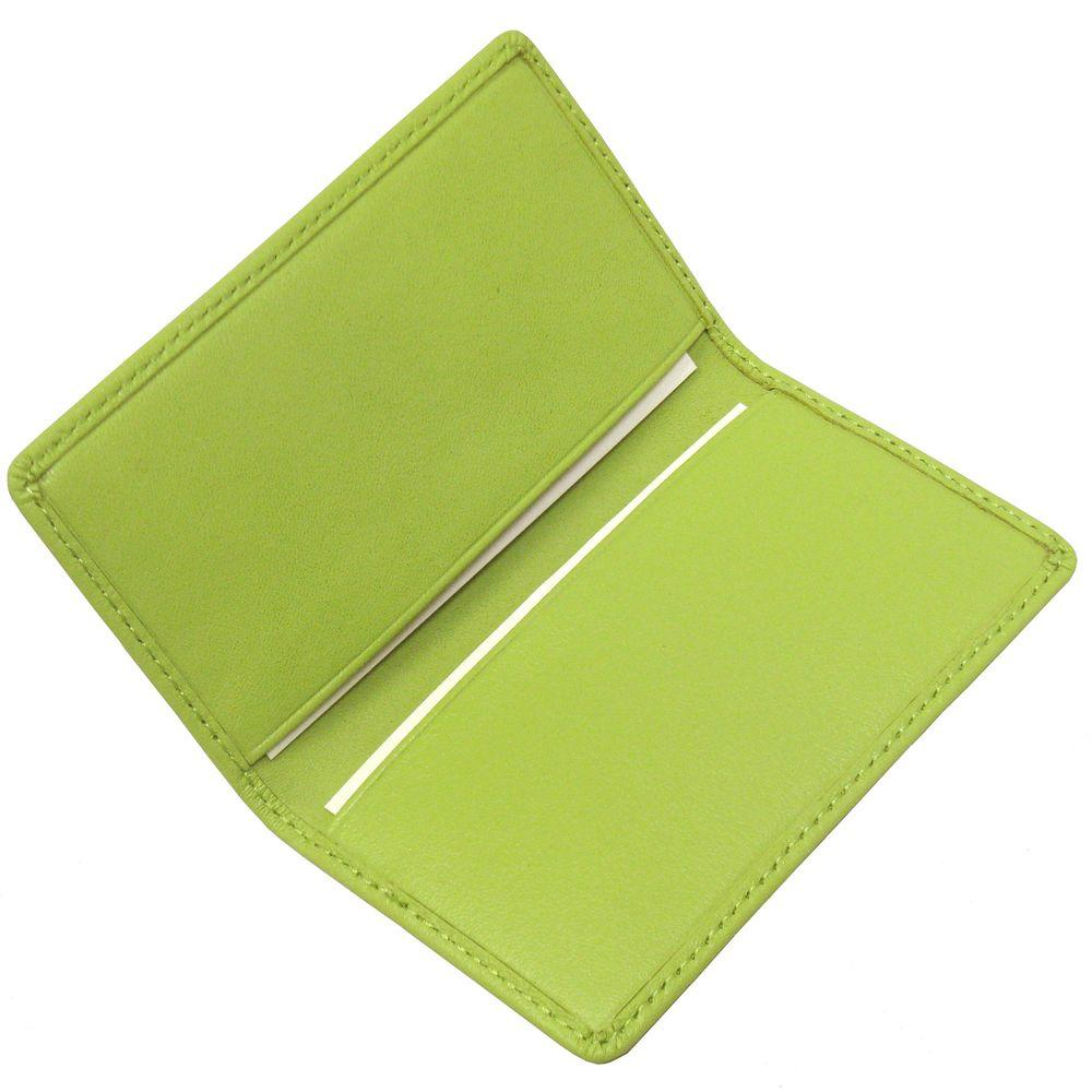 Royce Key Lime Green Business Card Case In Genuine Leather