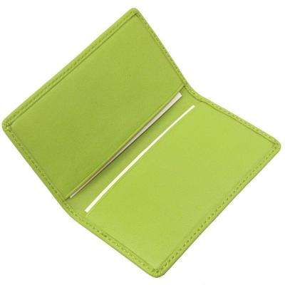 Key Lime Green Business Card Case in Genuine Leather