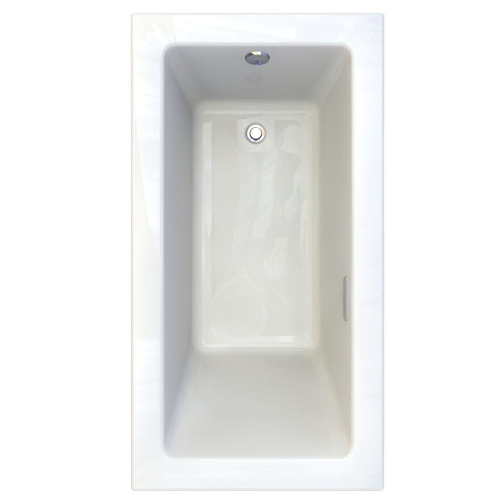 American Standard Studio 5 ft. x 32 in. Reversible Drain EverClean Air Bath Tub with Chromatherapy in White