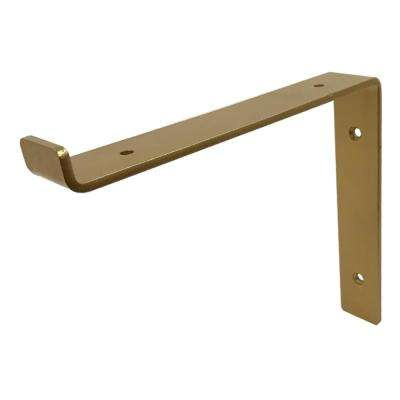 10 in. Gold Forged Steel Shelf Bracket