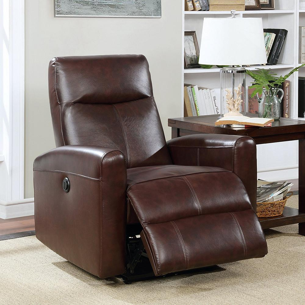 Ac Pacific Eli Collection Brown Contemporary Leather