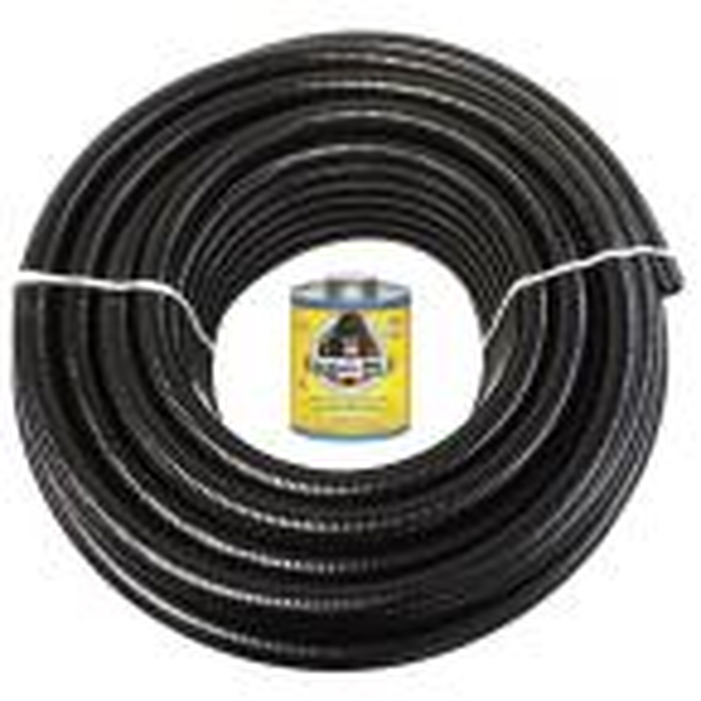 1 1/2 in. x 50 ft. Black PVC Schedule 40 Flexible Pipe with Gorilla Glue