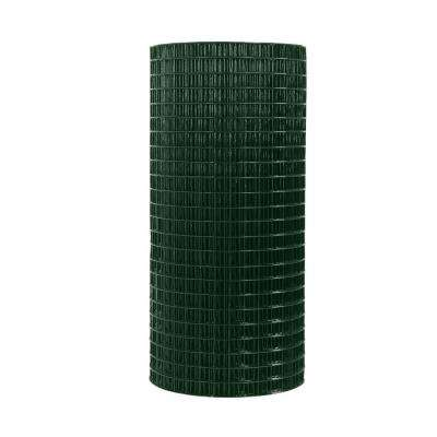 4 ft. x 50 ft. 16-Gauge Green Vinyl Coated Welded Wire Fence with 1 in. x 1 in. Mesh