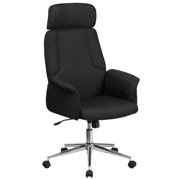 Flash Furniture High Back Black Fabric Executive Swivel Office Chair with