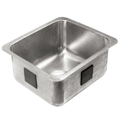 Wilson Undermount Crafted Stainless Steel in Brushed 17 in. Single Bowl Bar Prep Sink