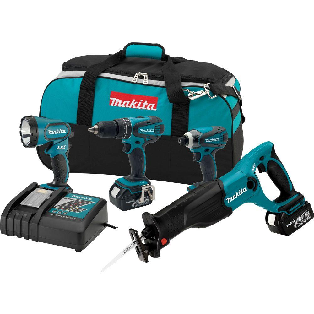 Makita 18-Volt LXT Lithium-Ion Combo Kit (4-Tool)
