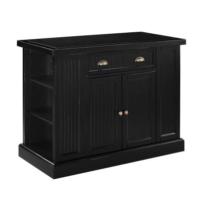 Seaside Black Kitchen Island