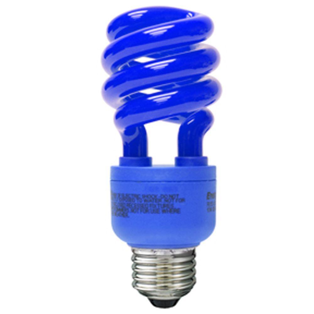CLI Energetic 60-Watt Equivalent Blue Spiral CFL Light Bulb