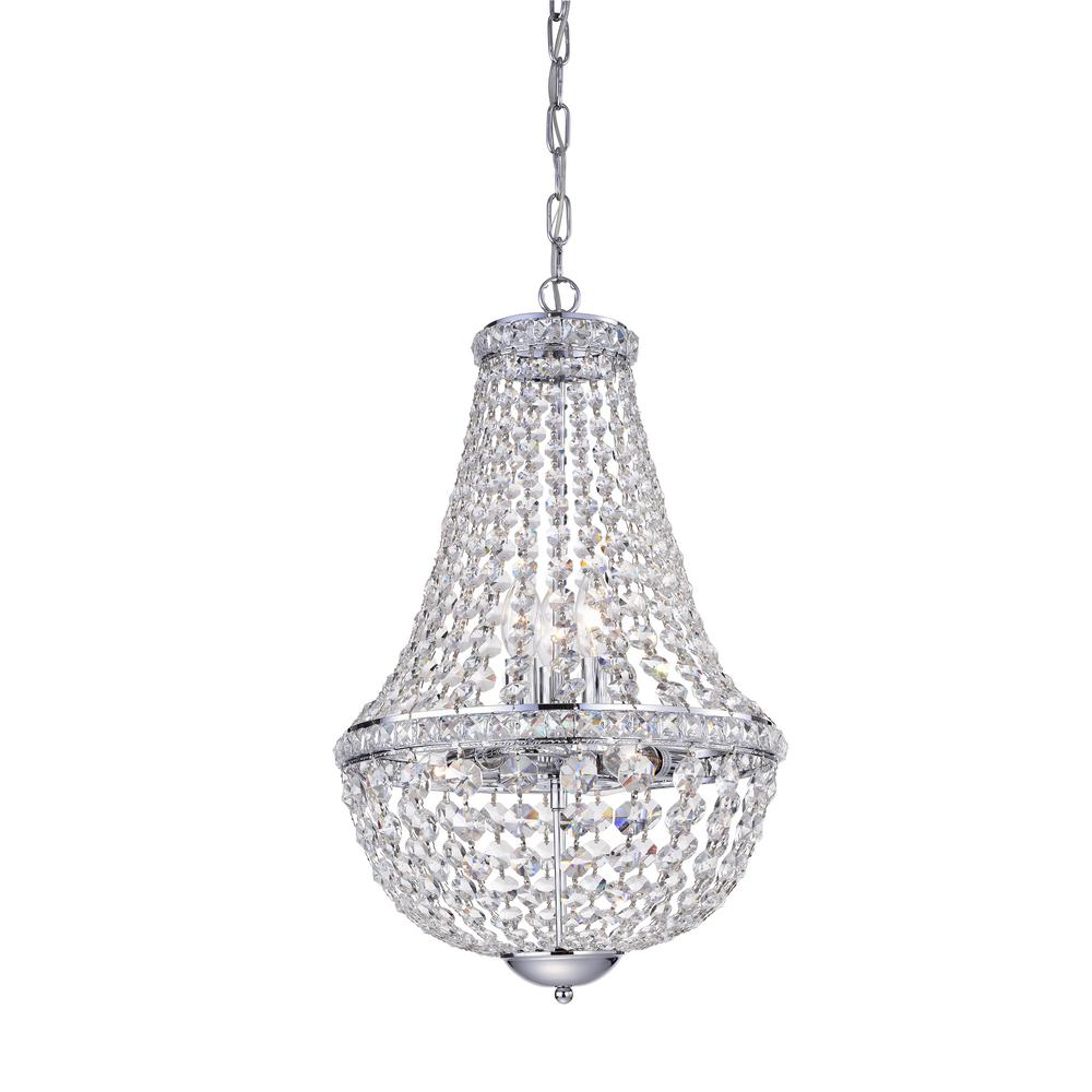 Warehouse of Tiffany Uanah 6-Light Crystal Chrome Chandelier