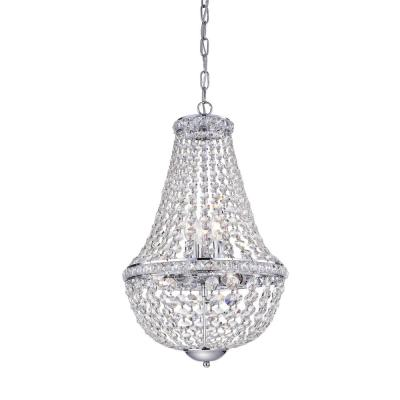 Uanah 6-Light Crystal Chrome Chandelier